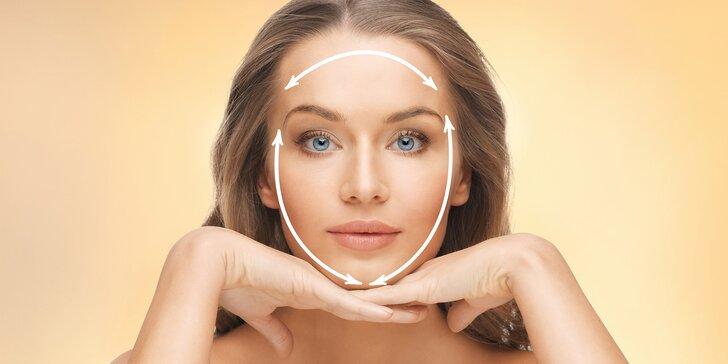 Neinvazivní facelifting celého obličeje včetně vrchní části krku