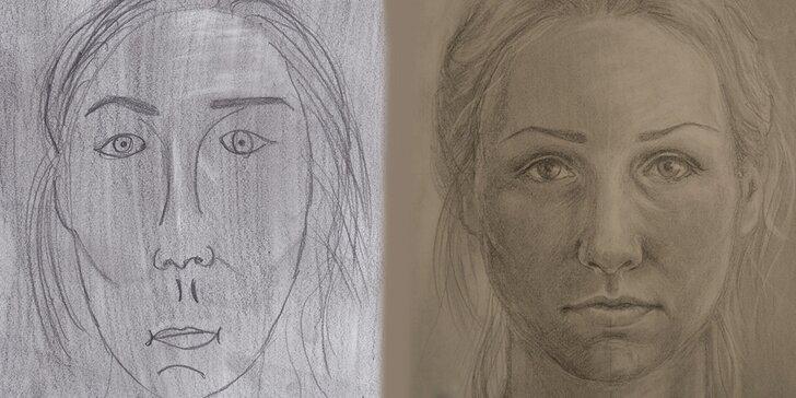 Kreslení pravou mozkovou hemisférou II.– reálná kresba a autoportrét