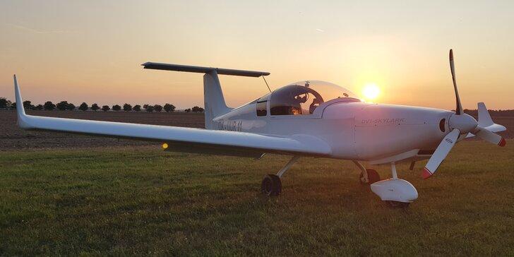 Vzhůru do oblak: seznamovací lety i zkouška pilotáže v ultralightu