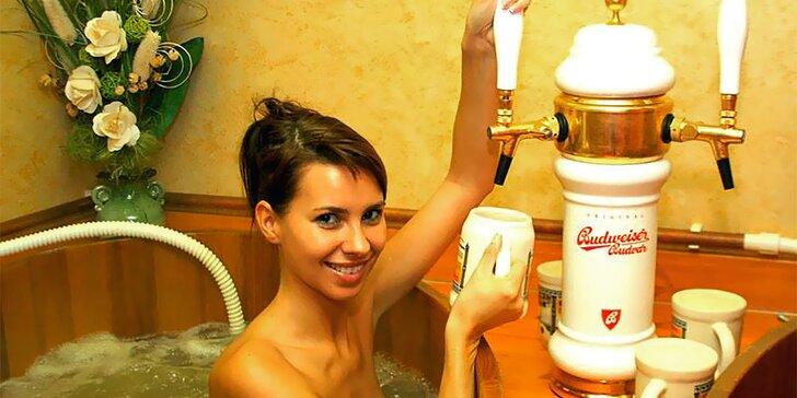 Hurá do Pivních lázní: Koupel dle výběru a neomezené pití piva pro 1 či 2 osoby