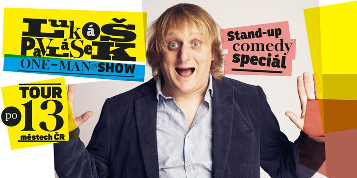 Lukáš Pavlásek vyráží na stand-up comedy tour – vstupenky do 9 měst