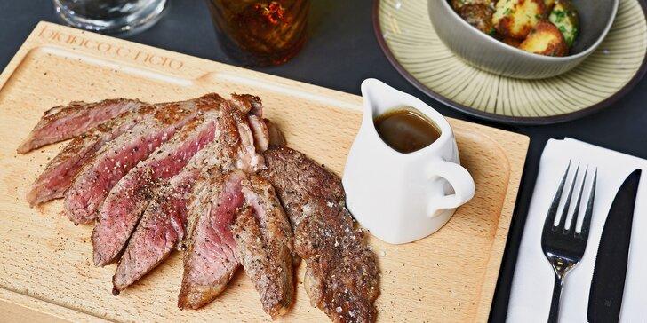 Luxus na talíři: 300g Rib Eye New Zealand steaky ze světového hovězího s oblohou
