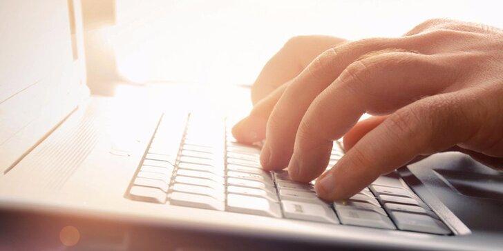 Online kurz psaní všemi deseti na klávesnici - 45 lekcí