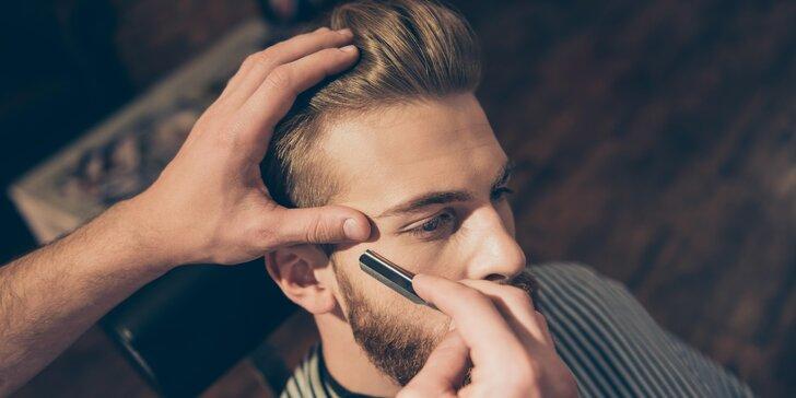 Jen pro pány: střih nebo holení v klasickém barbershopu na Vinohradech