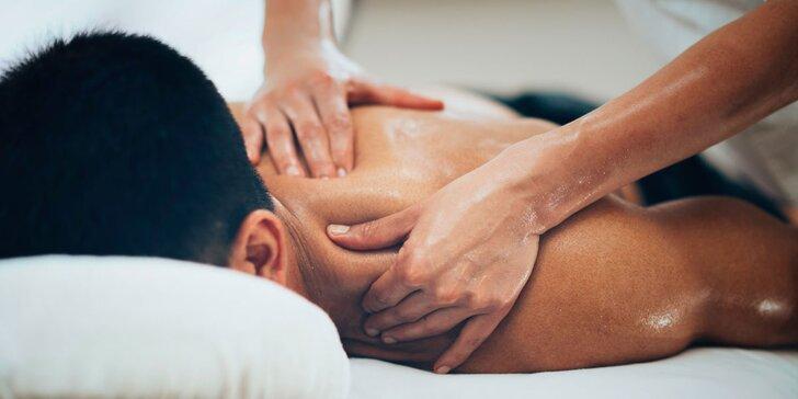 90minutová relaxační masáž voňavými olejíčky
