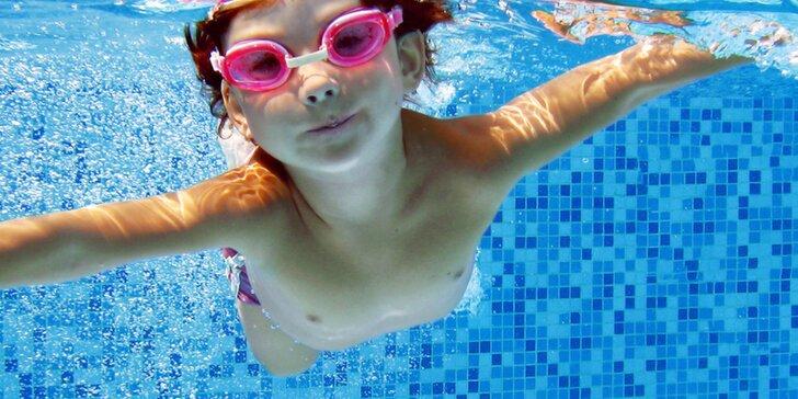 Kurz plavání pro malé neplavce od 4 let: skoky, potápění, splývání a dýchání
