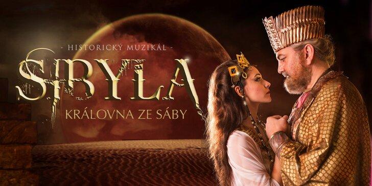 Sobota 30. září v Divadle Hybernia: lístky na muzikál Sibyla – Královna ze Sáby
