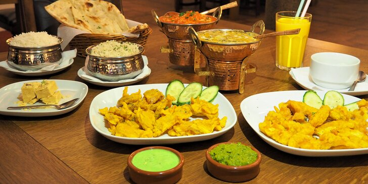 Jezte jako Indové: předkrm, hlavní jídlo a dezert pro dva labužníky