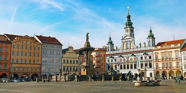 Hotel na náměstí Českých Budějovic se snídaní i možností prohlídky pivovaru