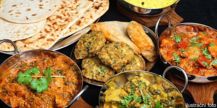 Indické dobroty pro dva: pestré a exotické degustační menu včetně nápojů