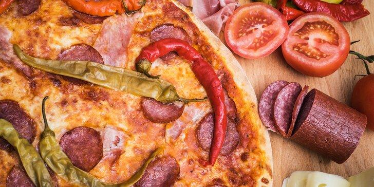 Štěstí v Líšni: pravá italská pizza dle výběru a limonáda či pivo z malého pivovaru