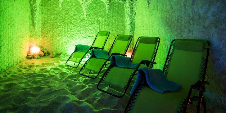 Relaxace v solné jeskyni: jednorázový vstup nebo přenosná permanentka