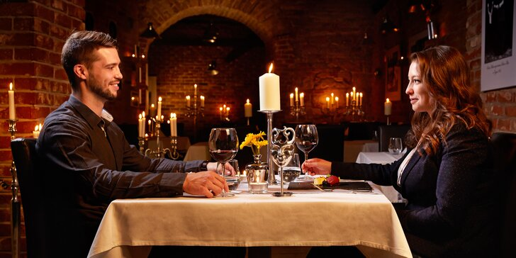 Nedělní romantika při svitu svíček: 6chodové degustační menu pro dva
