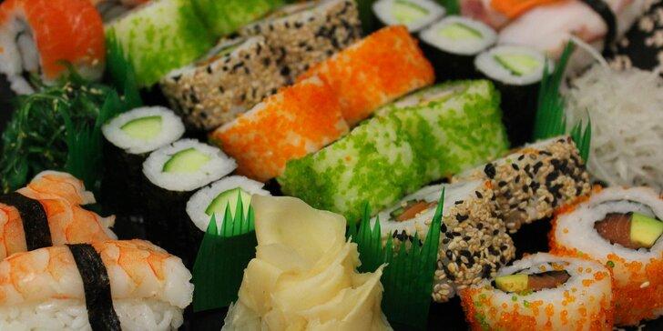Sushi – lék na podzimní splín: čerstvé i smažené, 18 či 28 kousků v setu