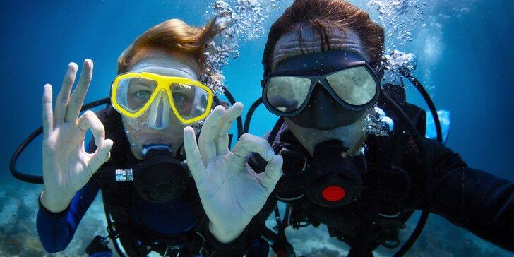Potápění do 20 metrů či kompletní potápečský kurz OWD / Samostatný potápěč
