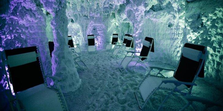 50minutový odpočinek v solné jeskyni pro dospělé i děti