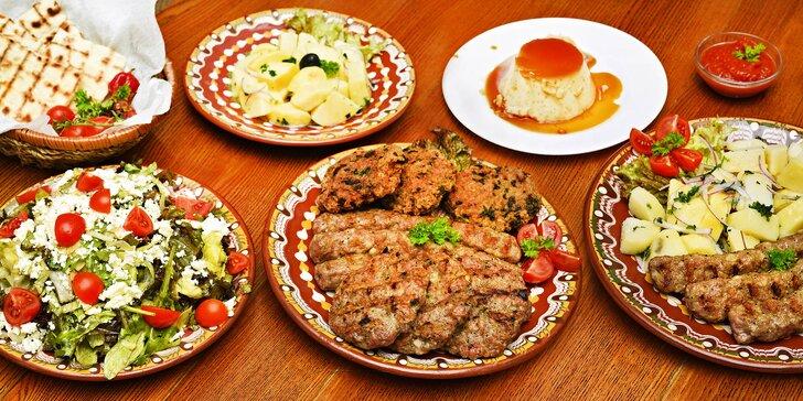 Snězte, co dokážete: neomezené množství balkánských masových specialit a příloh
