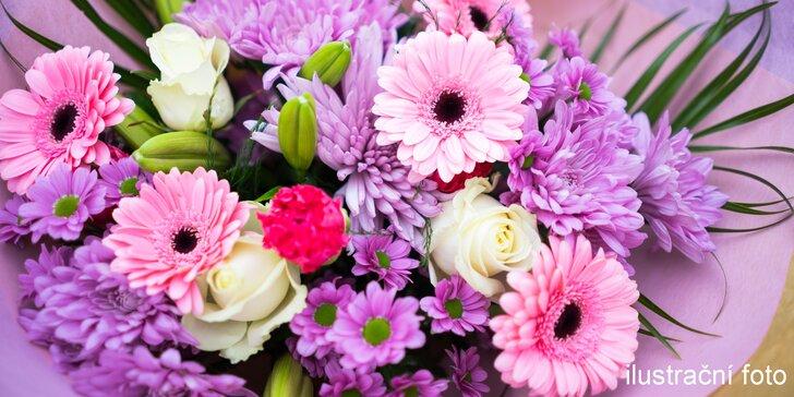Voňavá podzimní kytice z lásky i s doručením - velikost dle výběru
