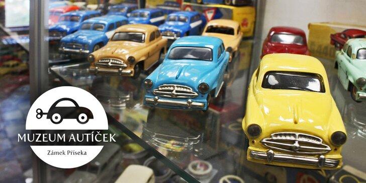 Vstup do muzea autíček na zámku Příseka: Potkejte znovu hračky svého dětství