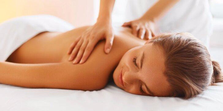 Balíček 3 relaxačních masáží zad, krku a šíje v délce 40 minut