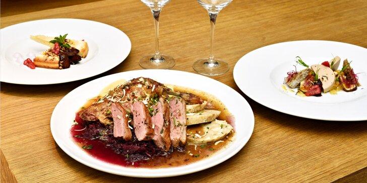 Svatomartinské menu na Kampě: 4 chody včetně husičky a lahev vína pro dva