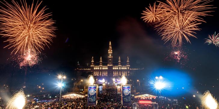 Oslavte poslední den v roce ve Vídni za doprovodu hudby a honosného ohňostroje