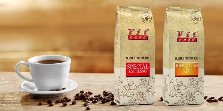 V ČR pražená káva VítCafé v limitované edici: 0,5 nebo 1 kg zrnek i s ochutnávkou