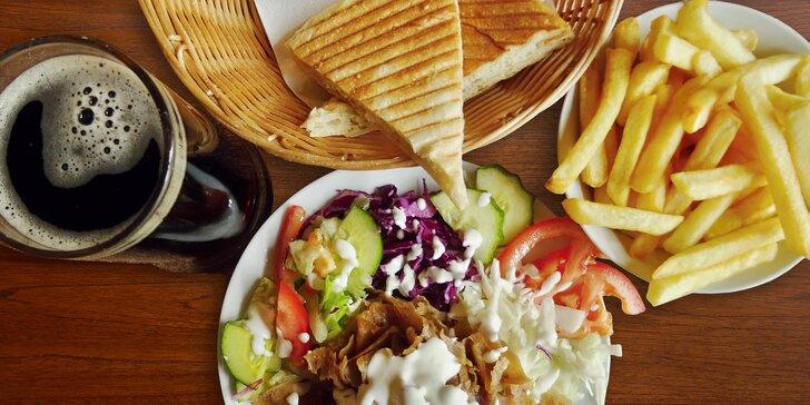 Jde se na kebab: Kompletní menu s tureckým chlebem, hranolky i nápojem