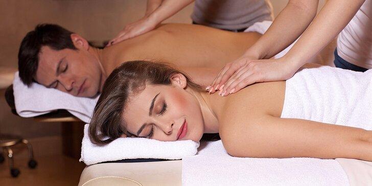 Relax pro dva: Masáž dle výběru, aroma lázeň a sekt