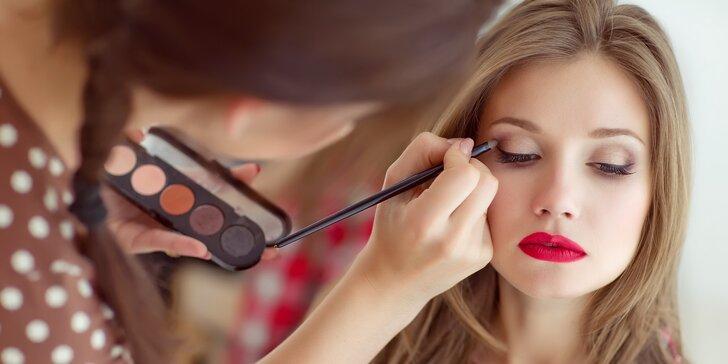 Vizážistické minimum: až 2hodinový kurz líčení a štětec na make-up jako bonus