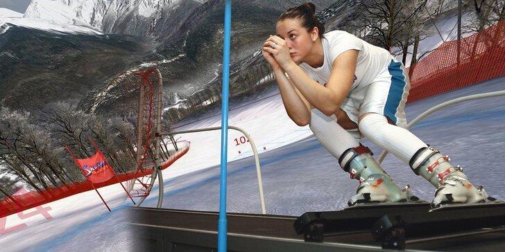 Než skočíte na lyže: 2 lekce carvingu zkusmo na trenažéru Skytec Interactiv