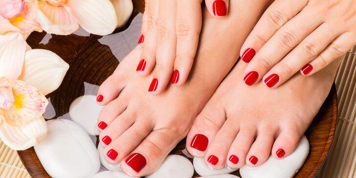Luxusní péče o nehty: Manikúra či pedikúra s lakováním nebo gel lakem
