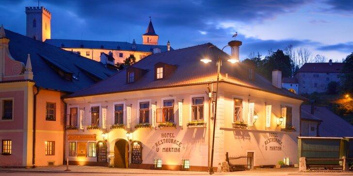 Romantika na jihu Čech se skvělým regionálním jídlem i relaxací pro dva