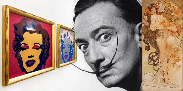 Kulturní lahůdka 3 v 1 pro milovníky výtvarného umění: Dalí, Mucha, Warhol