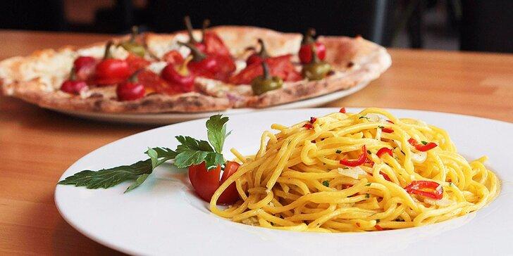 Zpříjemněte si víkend: těstoviny nebo pizza v restauraci O Sole Mio