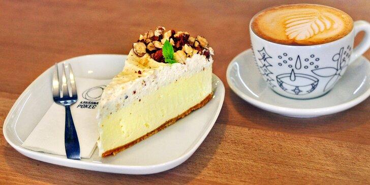 Pojďte na pokec: káva či domácí limonáda a dezert v pohodové kavárně v centru