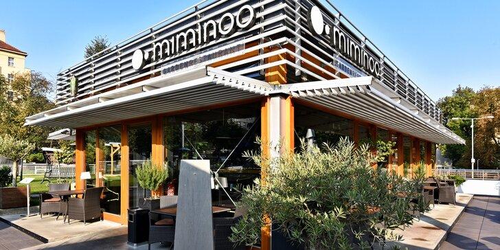 Tříchodové degustační menu v restauraci Miminoo a vstup na Žižkovskou věž