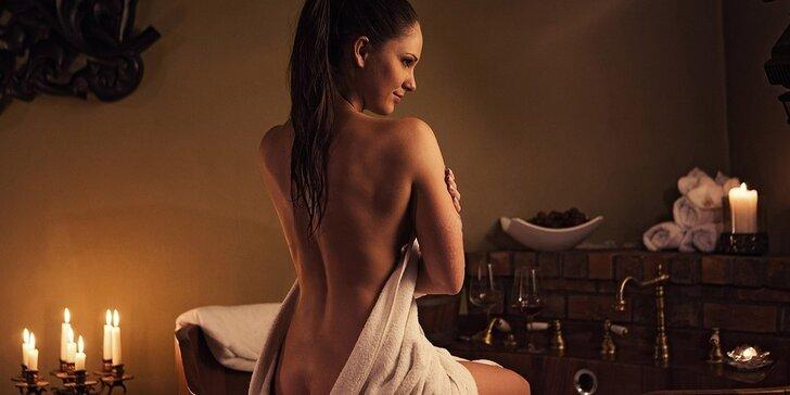 Relaxační rituál s vůní vína: Koupel, masáž i pohoštění pro 2