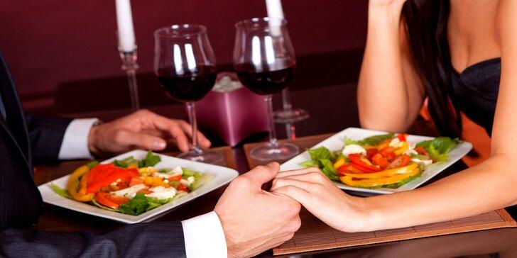Jezte zdravě & hravě: tematická degustační večeře o 5 chodech a víno pro dva