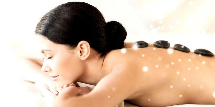 90minutová masáž lávovými kameny a reflexní masáž chodidel