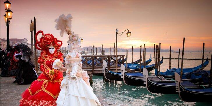 Zažijte rej masek v nejromantičtějším městě Evropy, v italských Benátkách