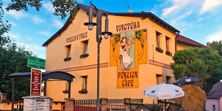 Prvorepublikový penzion na Vysočině: polopenze, vínko i vstup do Pekla