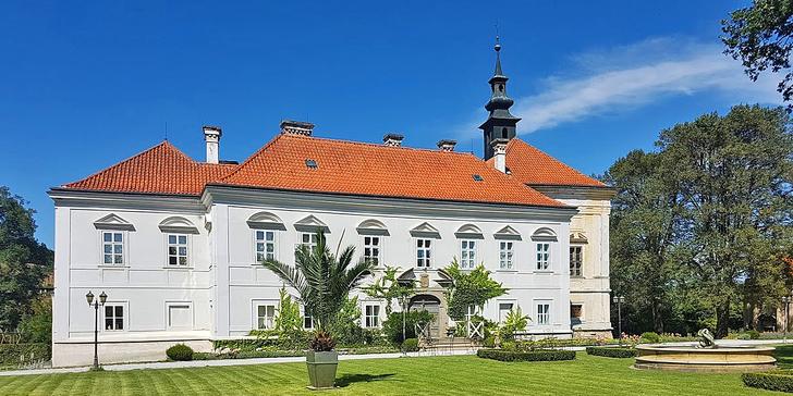 Dva romantické dny v Chateau Radíč: polopenze i noční prohlídka zámku