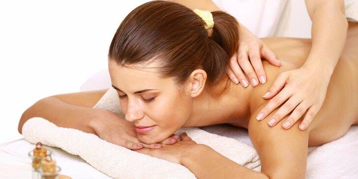 60minutová revitalizační solná masáž + 20minutový zábal