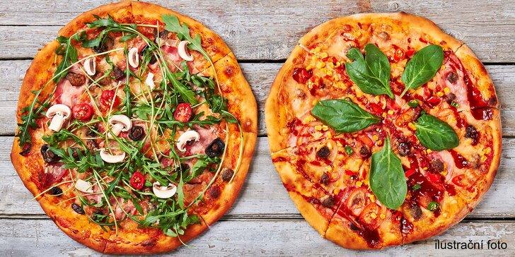 Pekelně dobrá a větší než jinde: 2x pizza o průměru 36 cm s sebou z Red Hellu