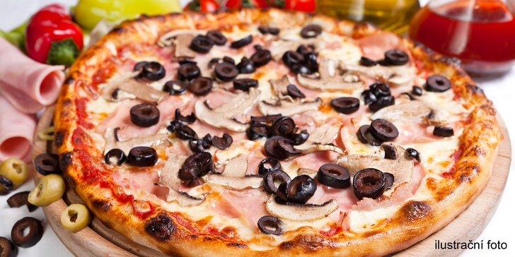Rozkoš, co má ⌀ 32 cm: italská pizza výběrem z 10 druhů v rodinné pizzerii