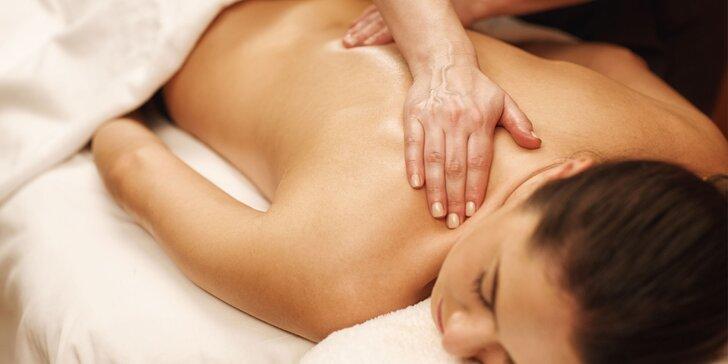 60minutová masáž dle vlastního výběru od slabozrakého maséra