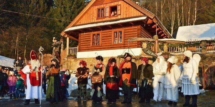 Mikuláš v Podlesí – polopenze, wellness i zábava v Pohádkové vesničce