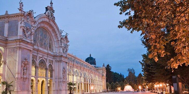 3 - 6 dní relaxace v centru Mariánských Lázní s polopenzí i procedurami