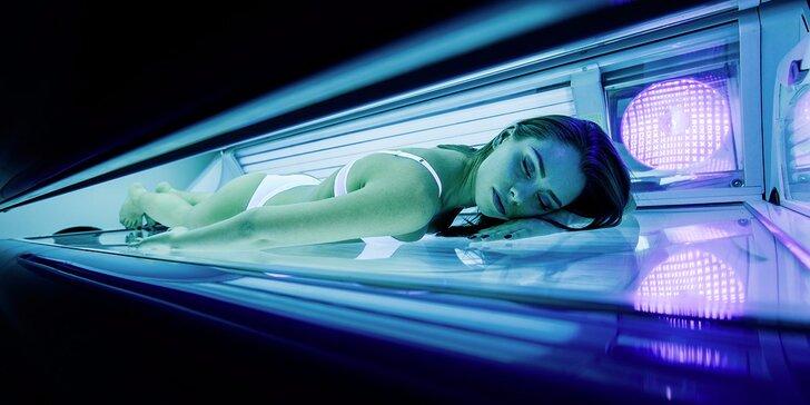 Roční přenosná permanentka na 100 nebo 200 minut opalování v soláriu